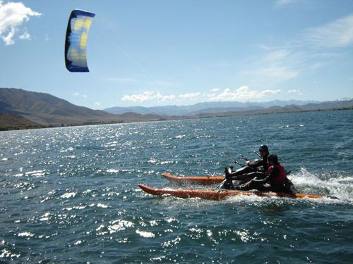 Kiteboating