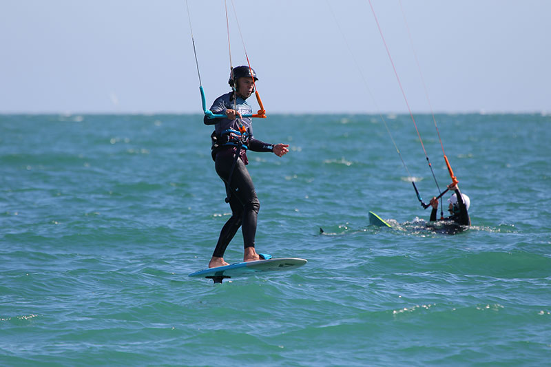 Lewis Crather at the Kitesurfing Armada