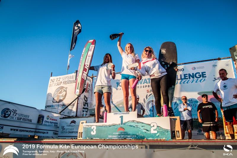 Women's Podium 2019 Formula Kite European Championships